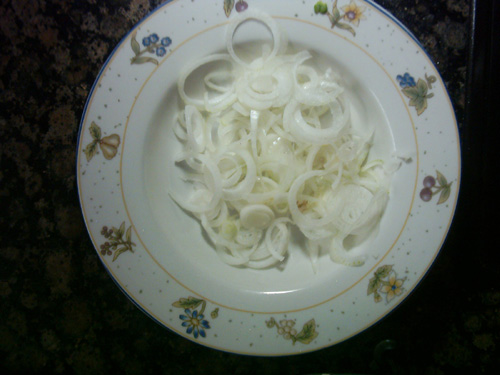 onion ringe for the txipirones